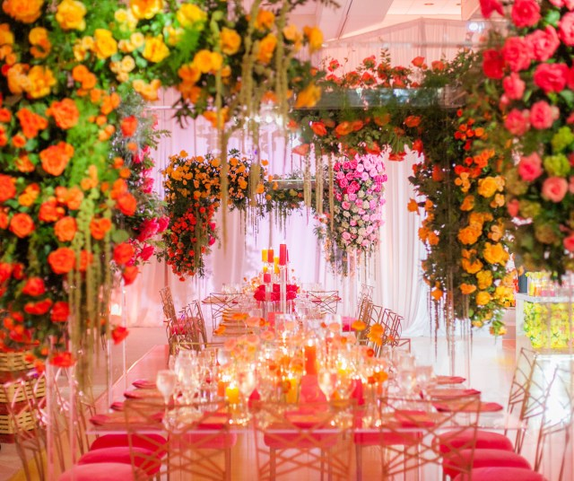 colorful urban wedding