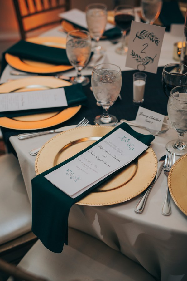 elegant green wedding
