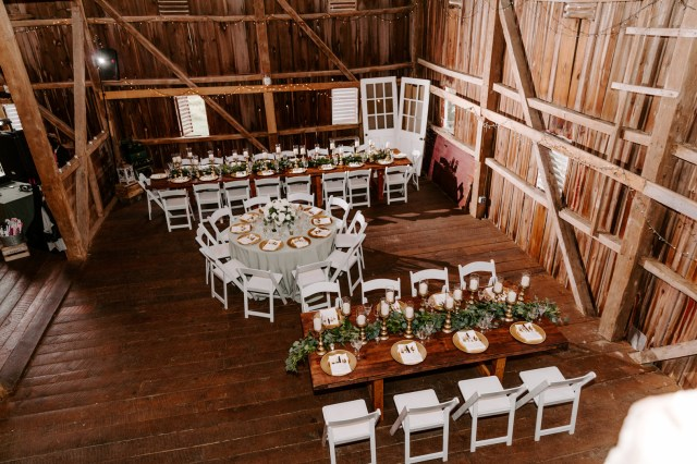 green farm wedding
