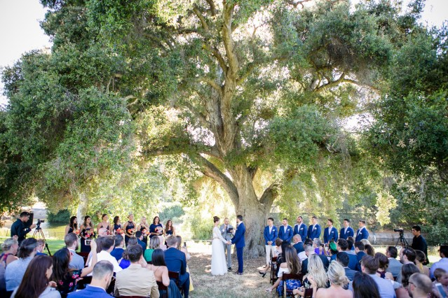 blue California wedding