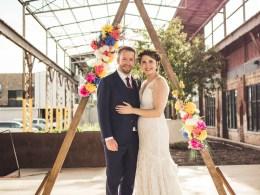 colorful boho wedding