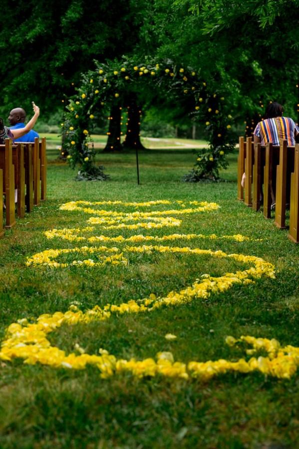 yellow spring wedding