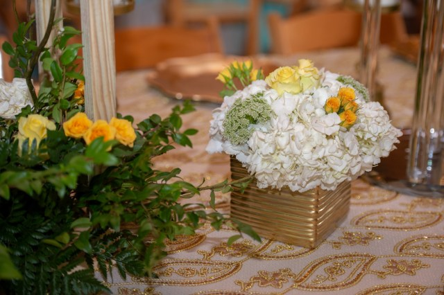 yellow spring wedding