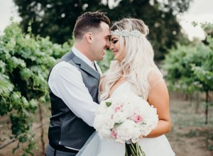 glam winery wedding