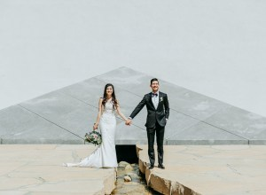 contemporary California wedding