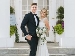 chic mansion wedding