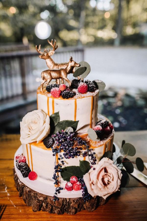 woodsy jewel-toned wedding