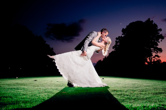 purple country club wedding