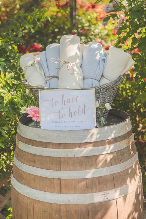California estate wedding