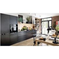 Küche schwarz matt Fronten   erweiterbar