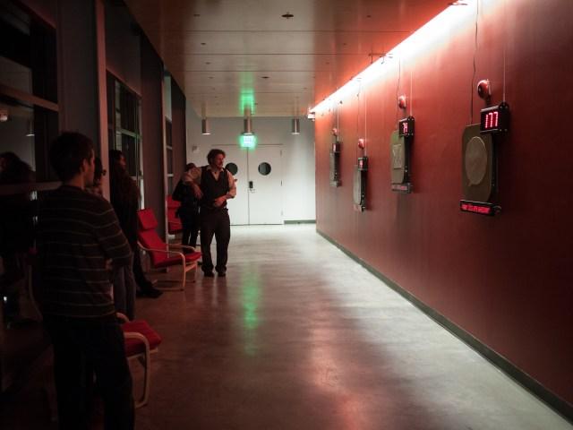FOMOphobia installation at the Digital Art Research Center at UC Santa Cruz Spring 2013 Open Studios