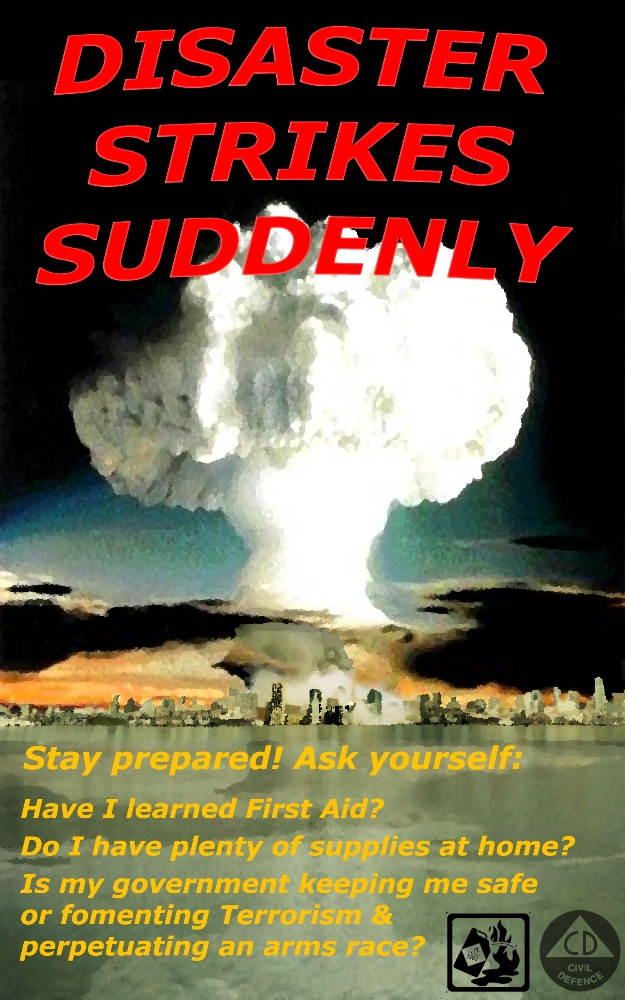 Adventure Club produced civic awareness posters are part of anti-war activities in the early 2000s