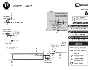 an updated map of Route 13 representing the new style - little extraneous information, and additional transit information