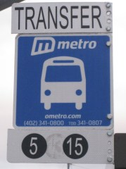 Original style transfer sign installed in 2011.