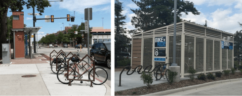 Bike accommodations at Fort Collins' MAX stations
