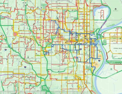 Urban Omaha Bike Routes