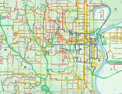 Urban Omaha Bike Routes