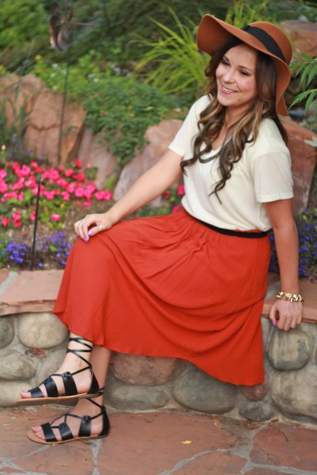 Rust skirt 4