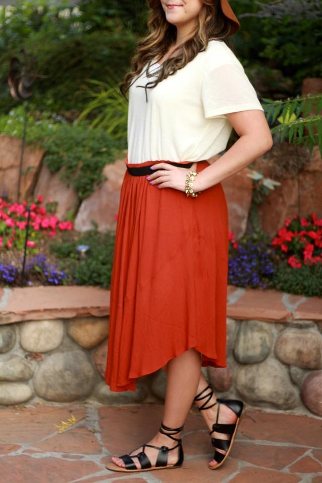 Rust skirt 5
