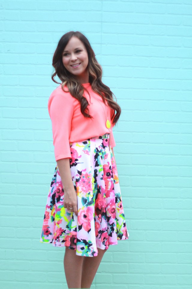 neon floral skirt 5