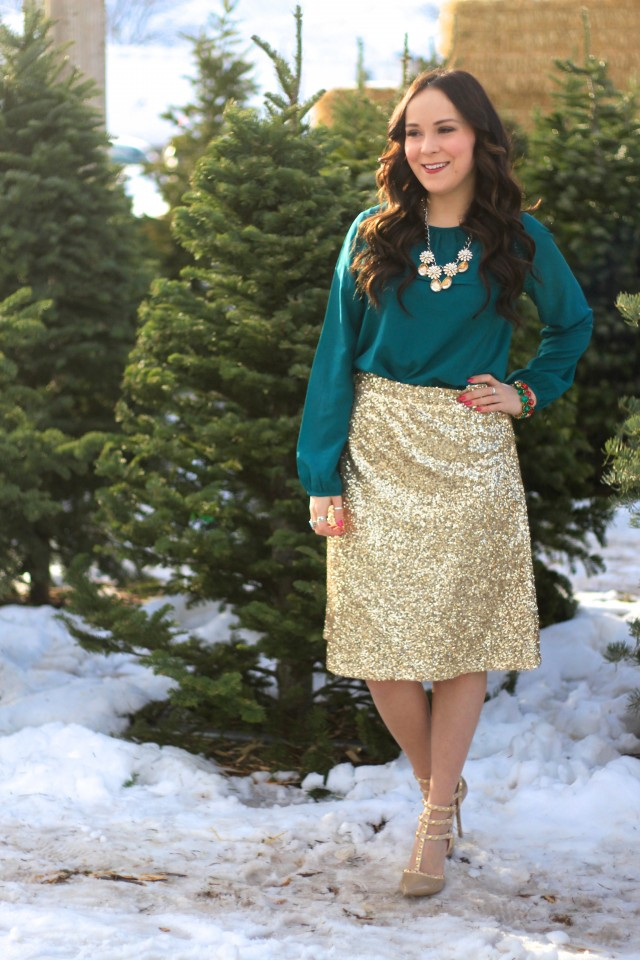 Gold Sequin Skirt 6