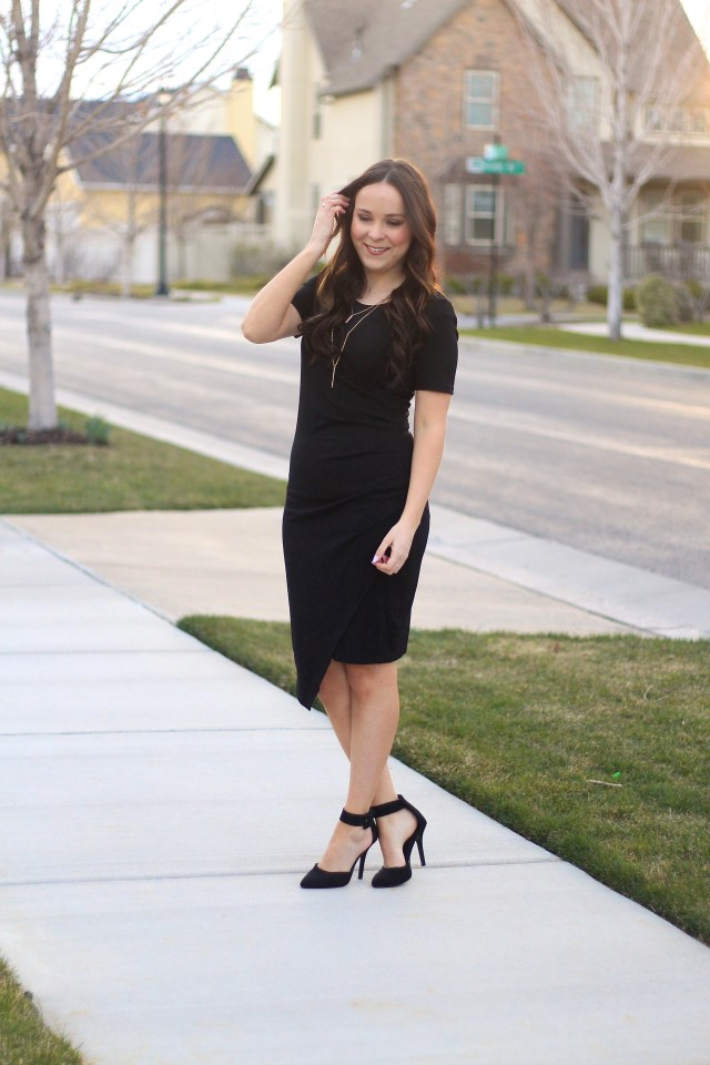 modest little black dress
