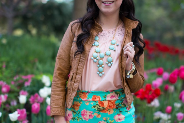 mint floral pencil skirt (11 of 19)