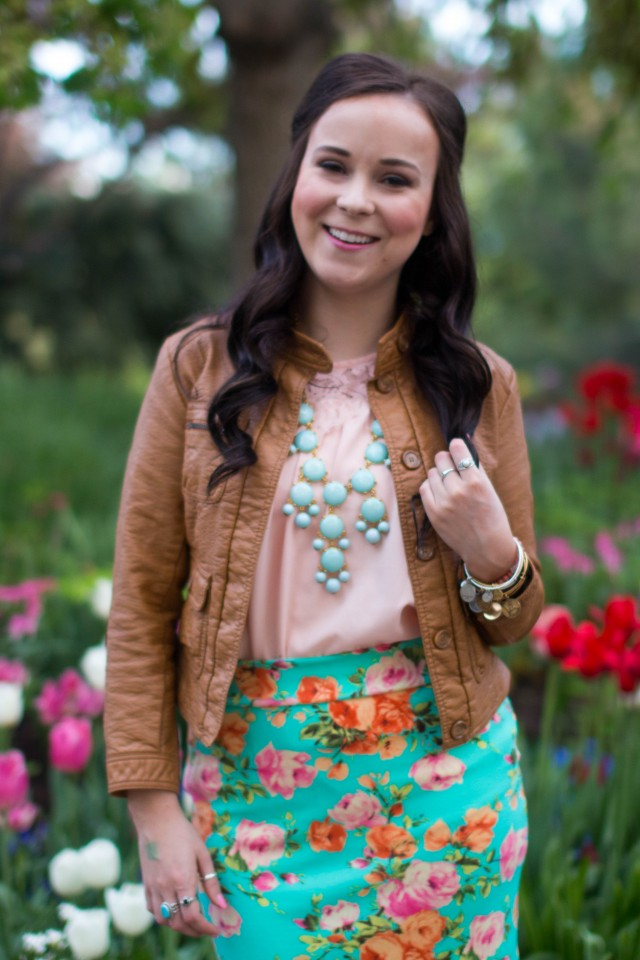 mint floral pencil skirt (16 of 19)