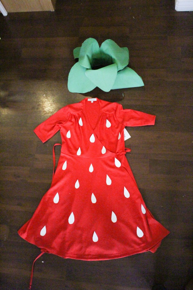 DIY Strawberry Costume Tutorial