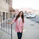 cutest pink waterfall cardigan!