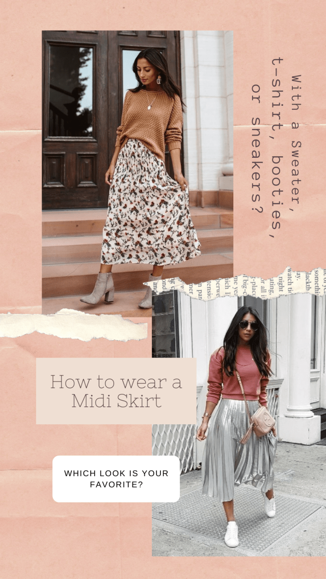 Spring 2020 Fashion How to style a midi skirt casual dressed up
