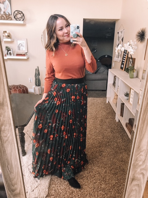 Shein Review Try On Pleated Maxi Skirt