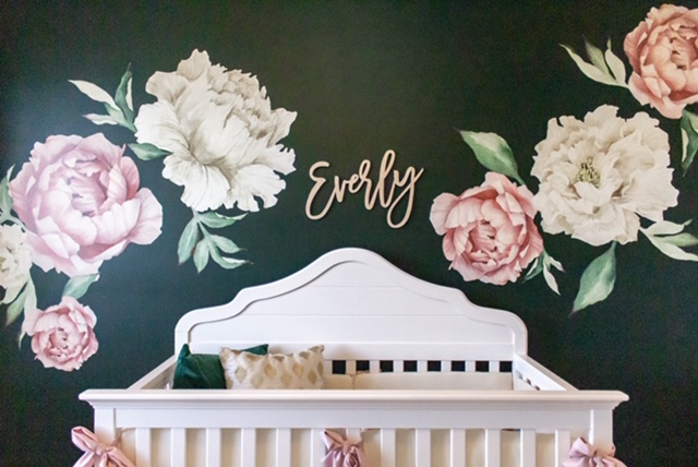 Green and Floral Nursery Baby Girl