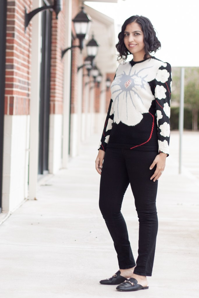 shopping vintage sales floral sweater