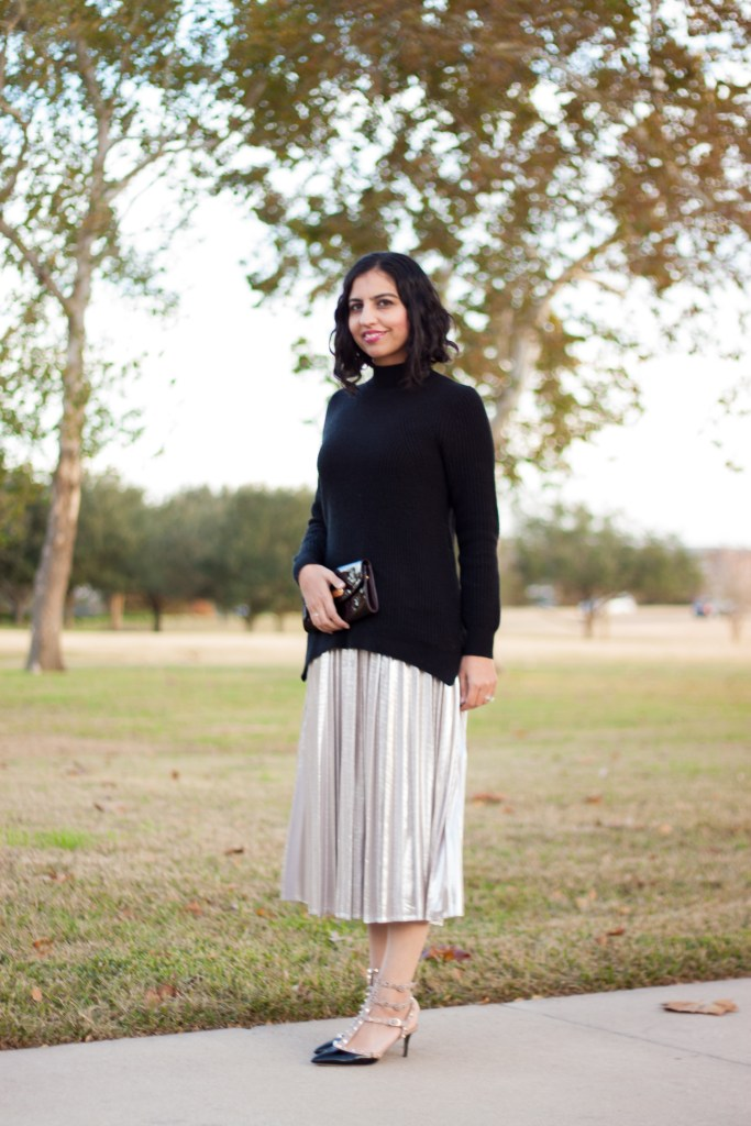 muslim christmas guide gold skirt