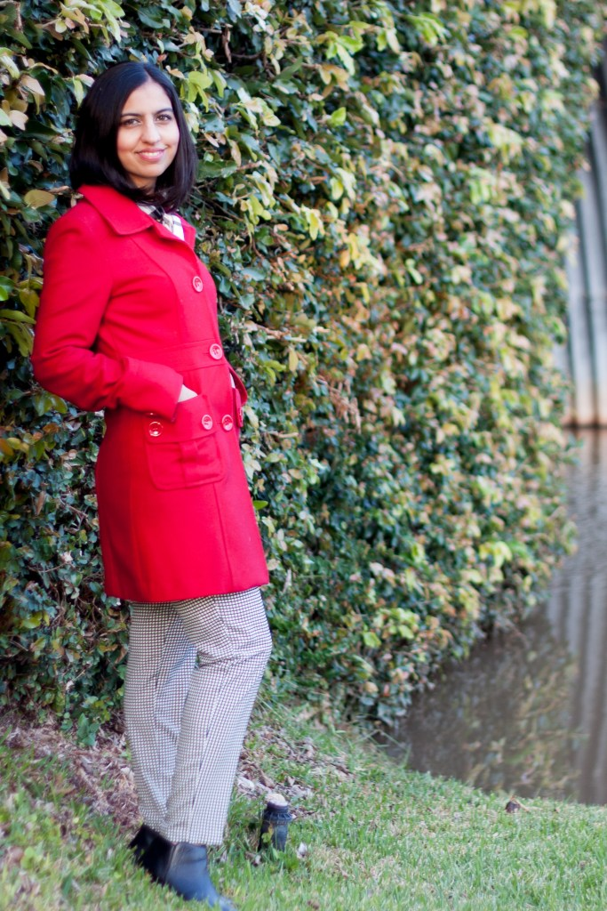 winter coat ideas red wool