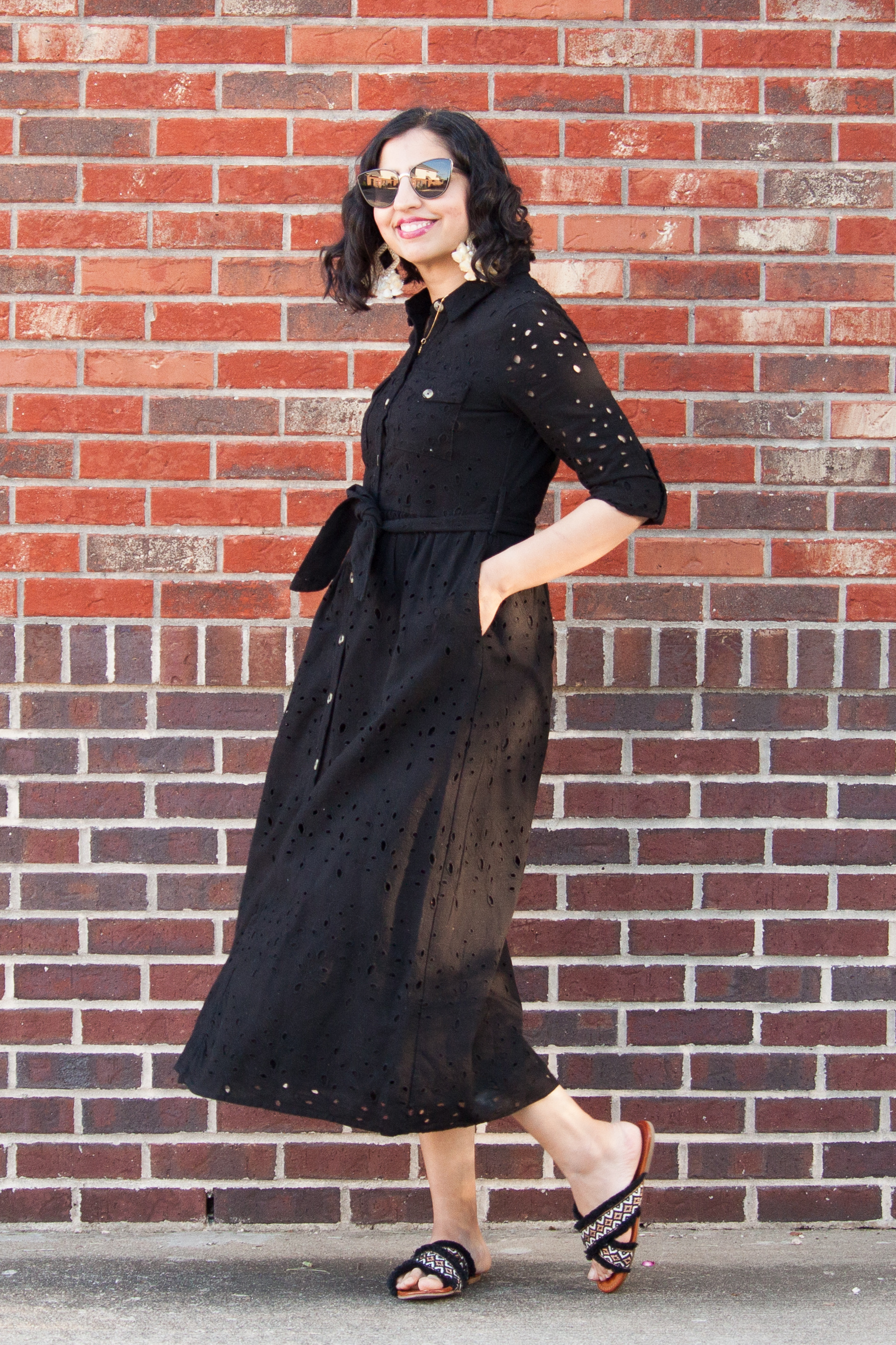 modest spring pieces black maxi dress