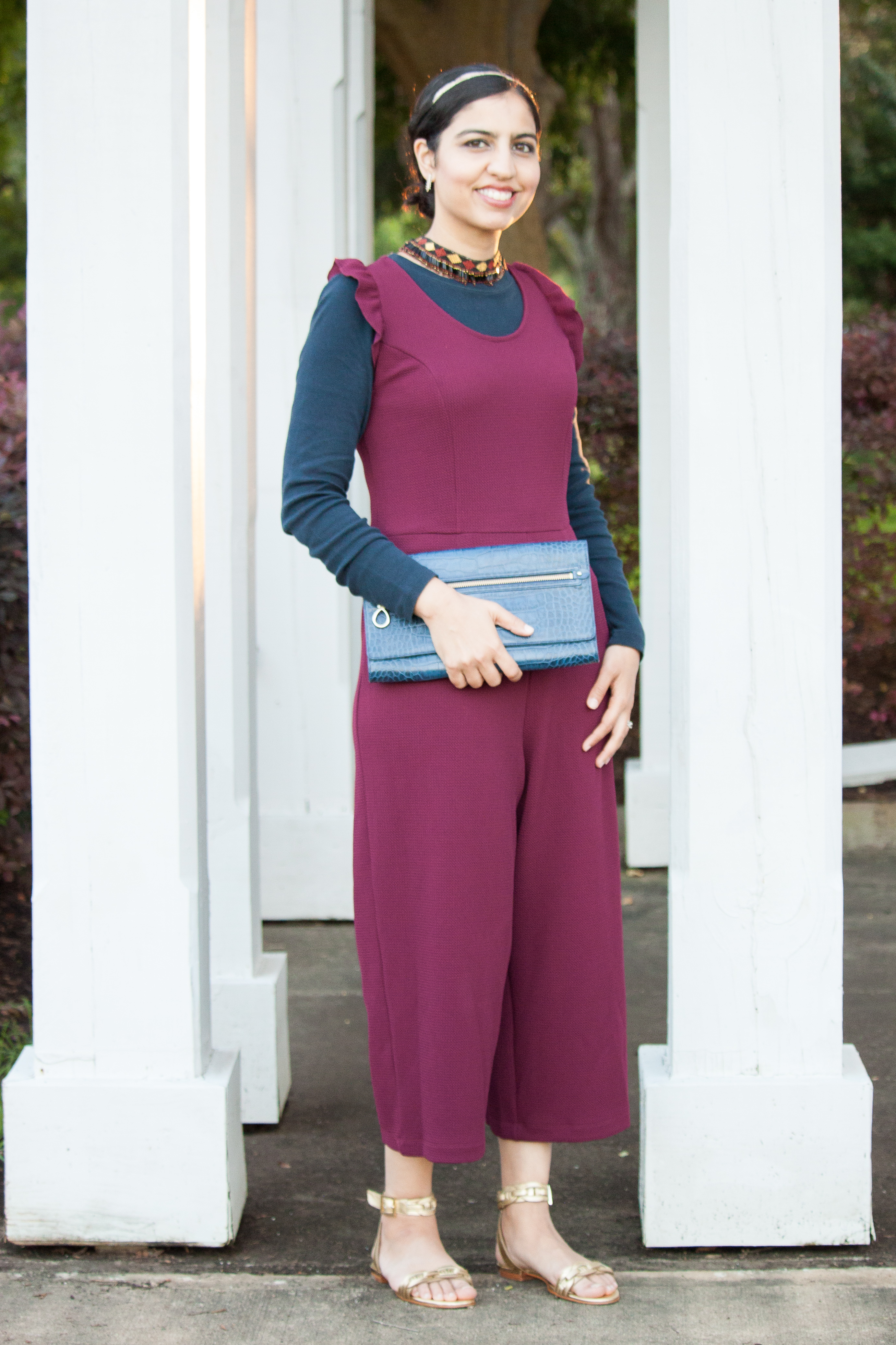 what to wear to an iftar party maroon jumpsuit