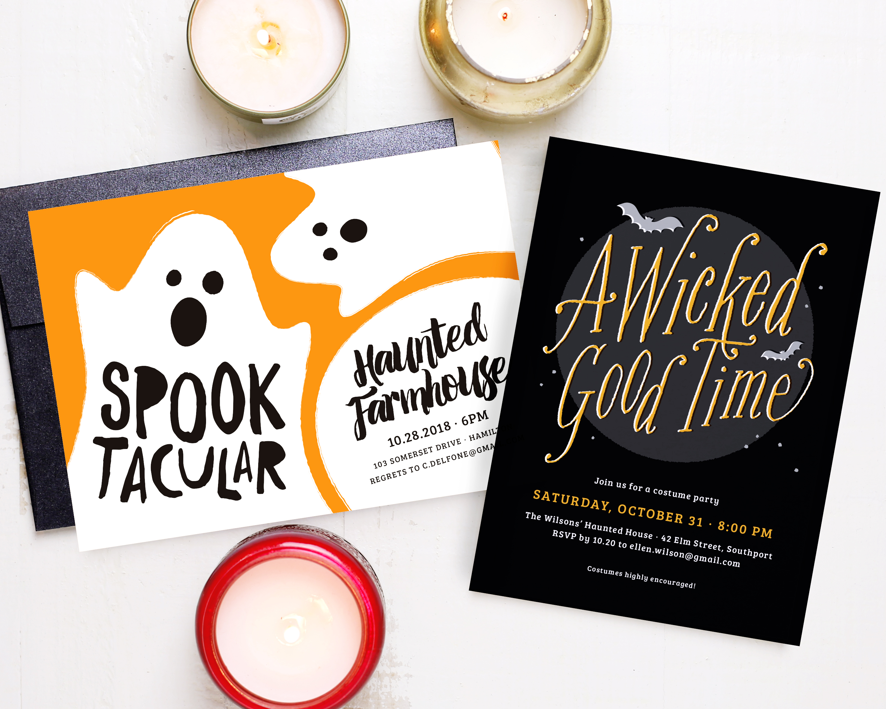 basic invite halloween invitations