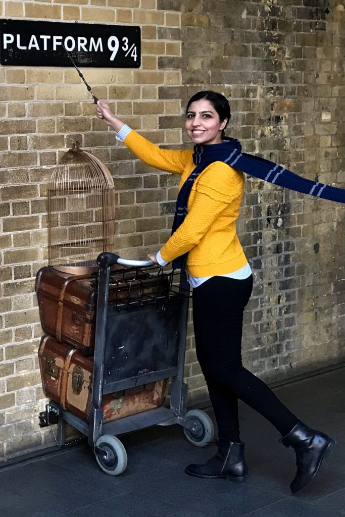 what to pack for winter in London platform 9 3/4