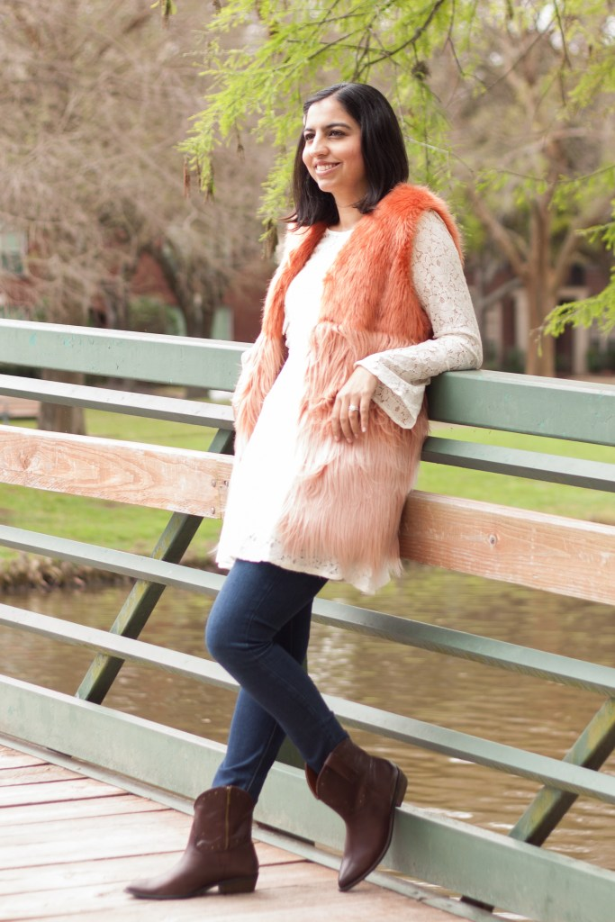 Rodeo outfit idea fur vest
