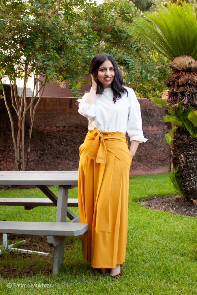 modest fashion brand Naayib tie sleeve blouse and paperbag maxi skirt