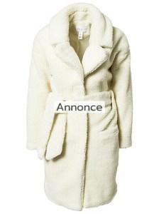 NOTION 1.3 TEDDY LONG COAT kvinde efterårsjakke
