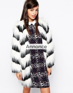 Glamorous Contrast Faux Fur Coat asos rabatkode rabatkoder