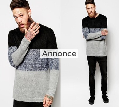 River Island Block Jumper with Mohair