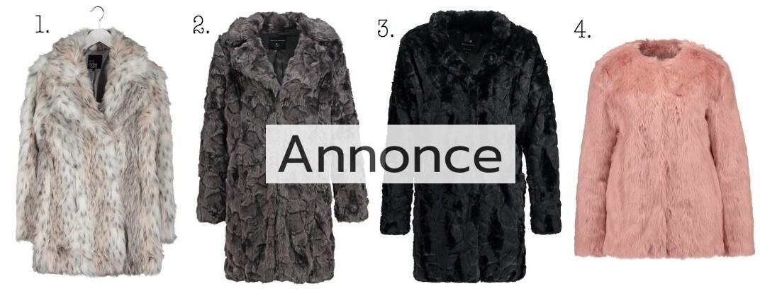 faux fur fake pels pelsjakke jakke frakke udsalg rabatkode tilbud