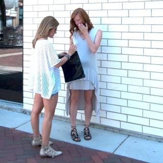 City Sheer Top & Flutter Hem Dress
