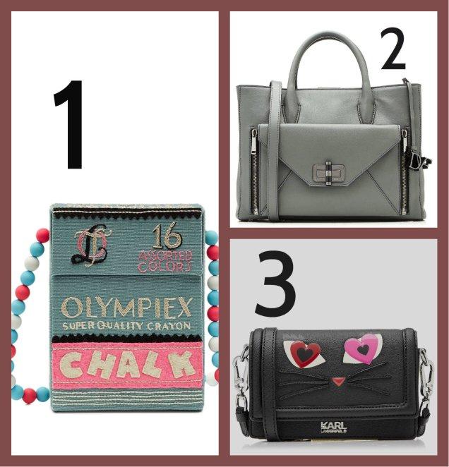 1. Olympia Le-Tan 2. DvF 3. Karl Lagerfeld