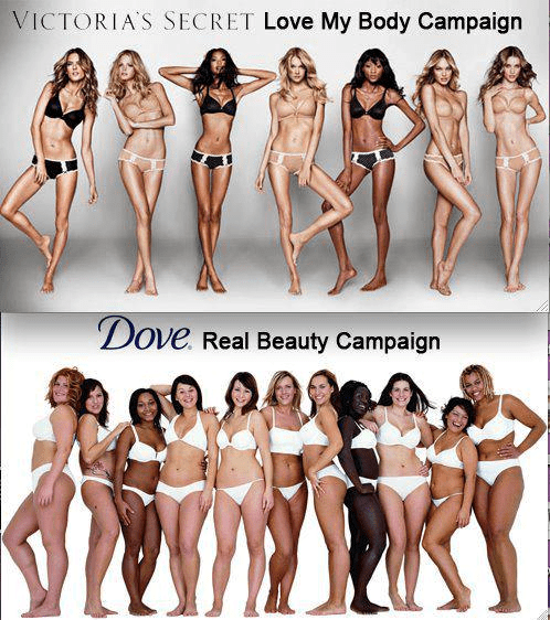 Victoria secret and Dove campaign