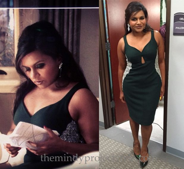 The Mindy Project Salvador Perez christmas cocktail dress